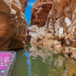How to explore Redbank Gorge on a Lilo